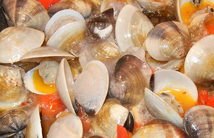 Clams and hepatites A