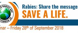 Webinar «Rabies: Share the message. Save a life», Friday 28th September 2018